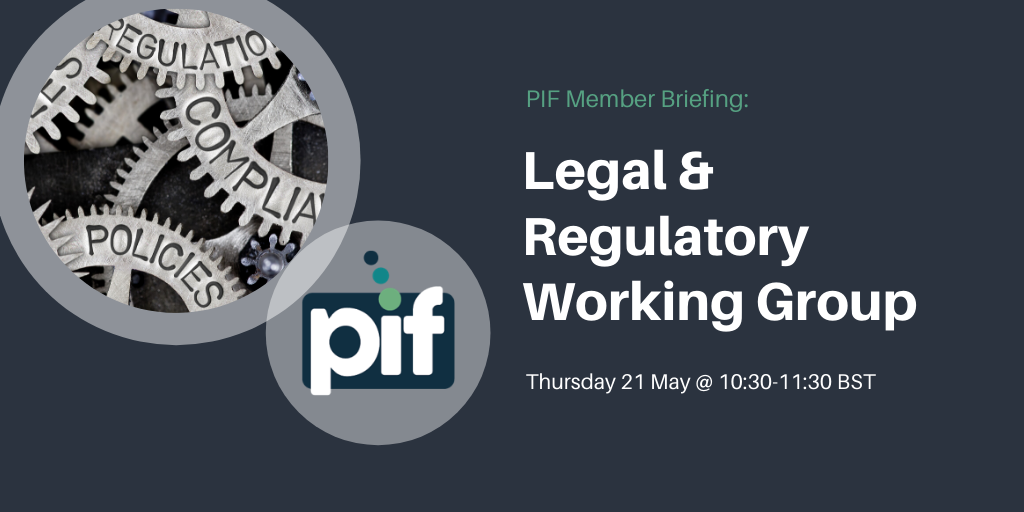 Register: PIF Legal & Regulatory Working Group – 21 May